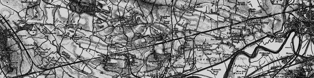 Old map of Widnes Sta in 1896