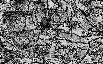 Old map of Widcombe Wood in 1898