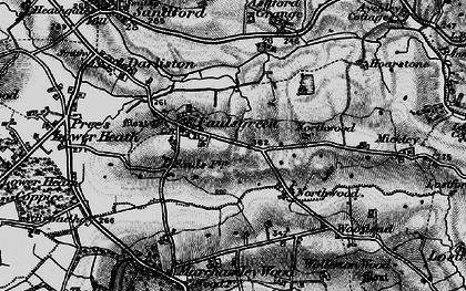 Old map of Ashford Grange in 1897