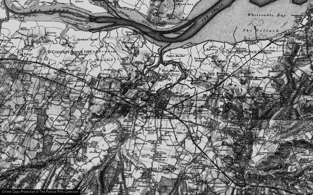 Old Map of Faversham, 1895 in 1895