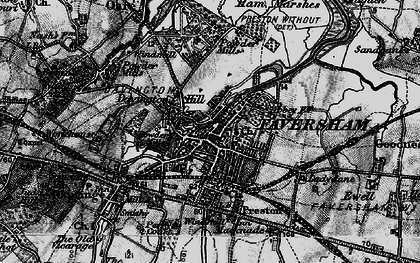 Old map of Faversham in 1895