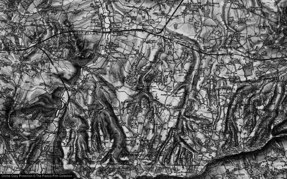 Old Map of Fawkham Green, 1895 in 1895