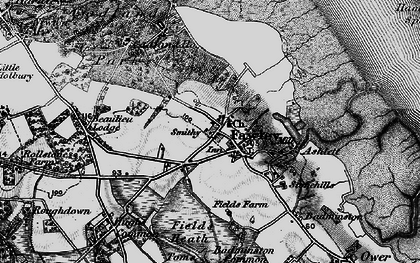 Old map of Fawley in 1895