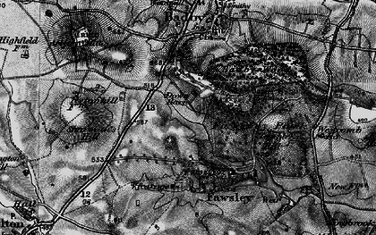 Old map of Badby Down in 1898