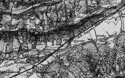 Old map of Faygate in 1896