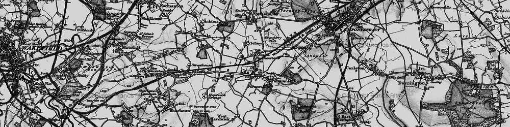 Old map of Featherstone in 1896