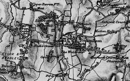 Old map of Feckenham in 1898