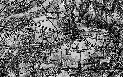 Old map of Felbridge in 1895