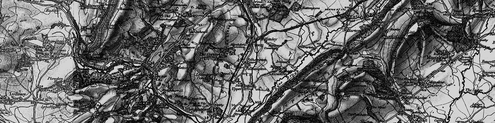 Old map of Alcaston in 1899