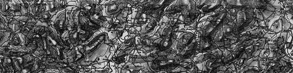 Old map of Ynysau-isaf in 1898