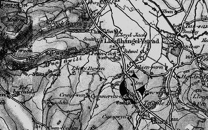 Old map of Felinfach in 1898