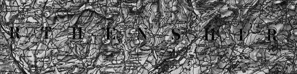Old map of Allt-y-golau-Uchaf in 1898