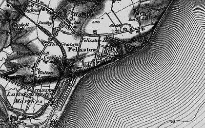 Old map of Felixstowe in 1895