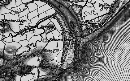 Old map of Woodbridge Haven in 1895