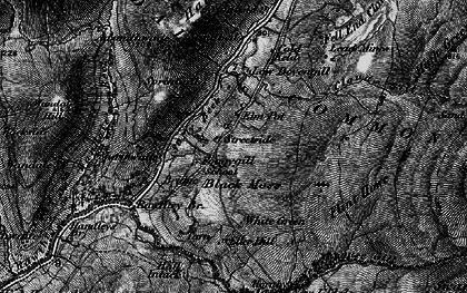 Old map of Backside Beck in 1897