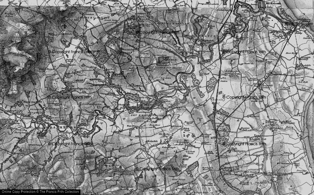 Old Map of Historic Map covering Acton in 1897