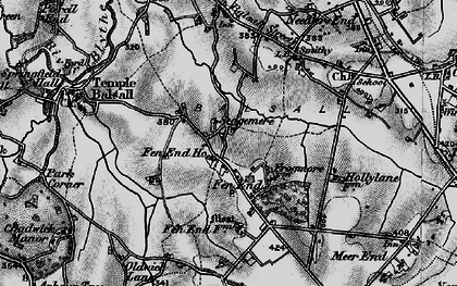 Old map of Balsall Lodge in 1899