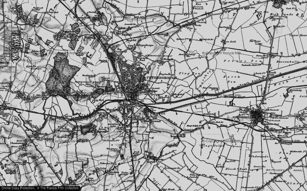 Old Map of Fengate, 1898 in 1898