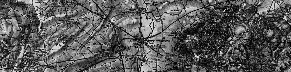 Old map of Fenny Stratford in 1896