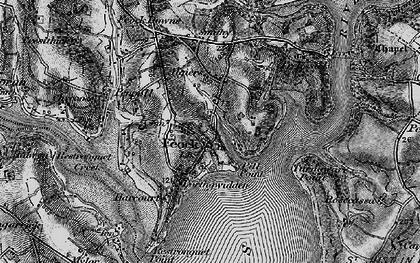 Old map of Feock in 1895