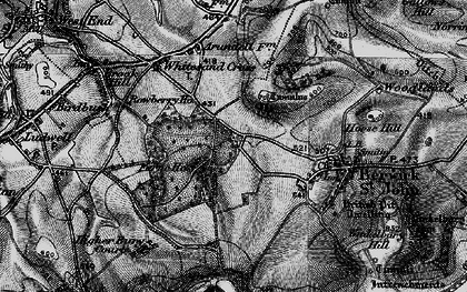 Old map of Win Green in 1895