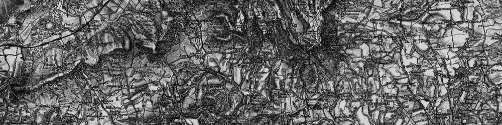 Old map of Fernhurst in 1895