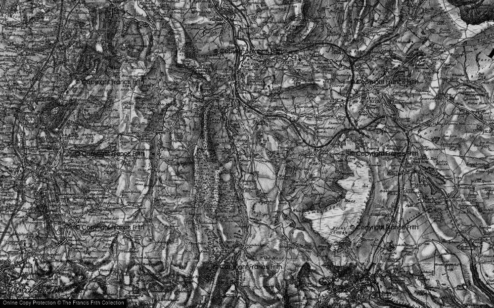 Old Map of Fernilee, 1896 in 1896
