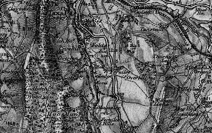 Old map of Goyt Valley in 1896