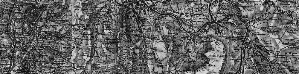 Old map of Wythen Lache in 1896