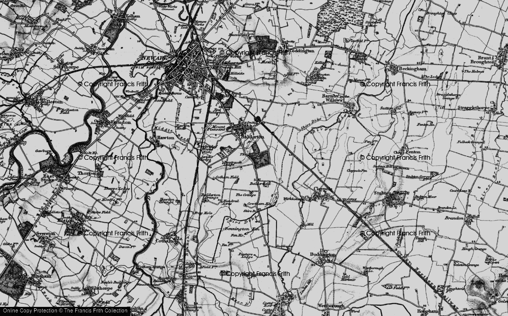 Old Map of Historic Map covering Balderfield in 1899