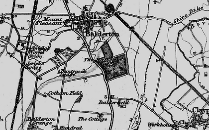 Old map of Balderfield in 1899