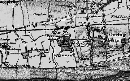 Old map of Ferring in 1895
