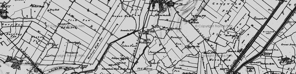 Old map of Acre Fen in 1898