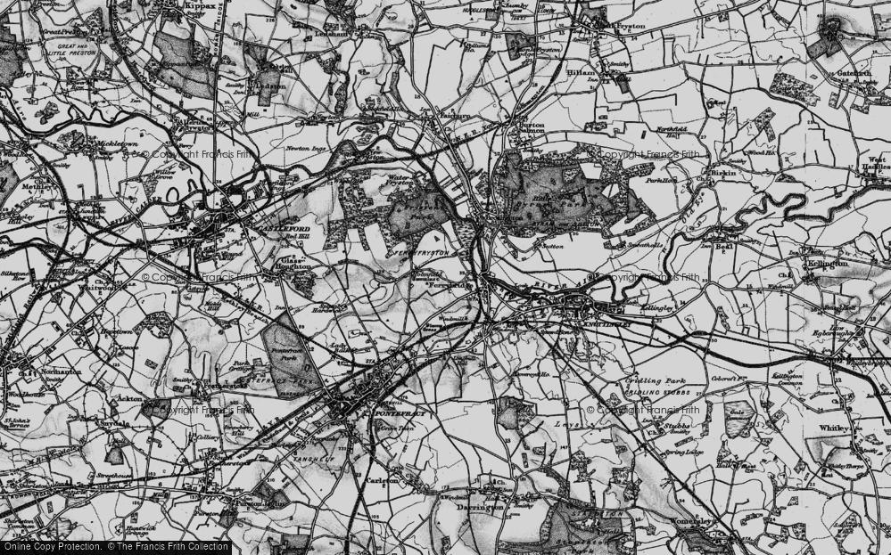Old Map of Ferrybridge, 1896 in 1896