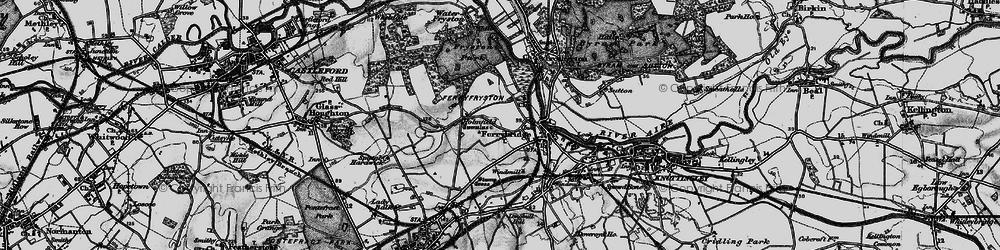 Old map of Ferrybridge in 1896