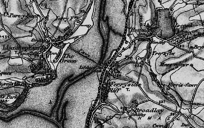 Old map of Ferryside in 1896