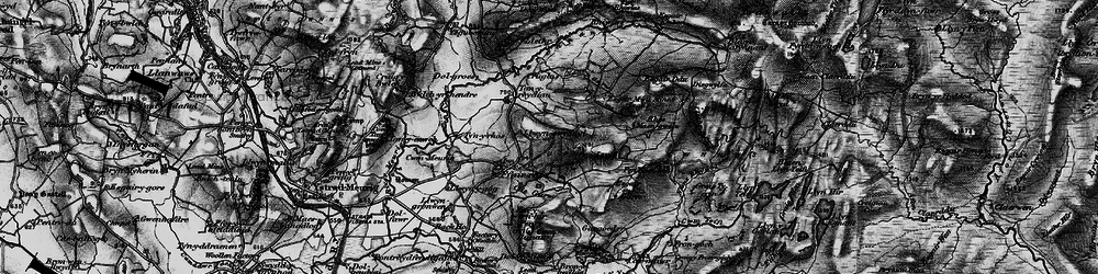 Old map of Y Felin Fach in 1898