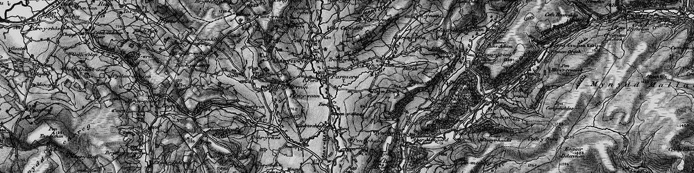 Old map of Afon Fanafas in 1898