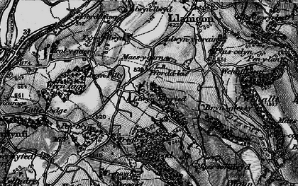 Old map of Allt Wood in 1896