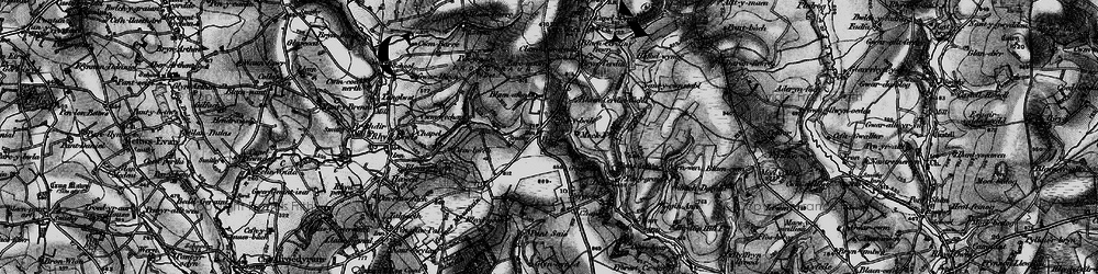 Old map of Wstrws in 1898