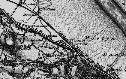Old map of Ffynnongroyw in 1896