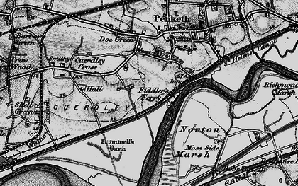 Old map of Fiddler's Ferry in 1896
