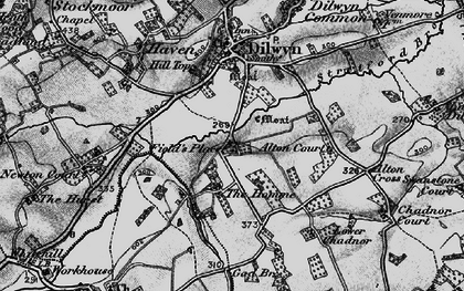 Old map of Alton Cross in 1898