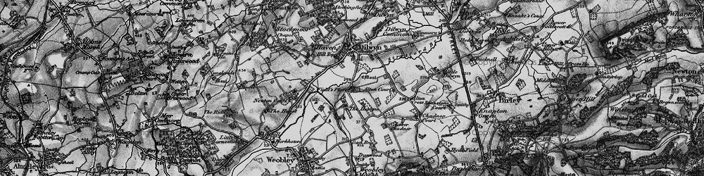 Old map of Alton Court in 1898
