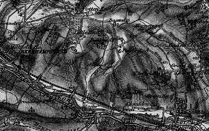 Old map of Fields End in 1896