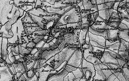 Old map of Fifehead Neville in 1898