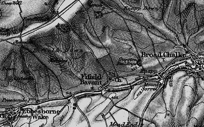 Old map of Fifield Bavant in 1895