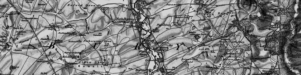 Old map of Ablington Furze in 1898