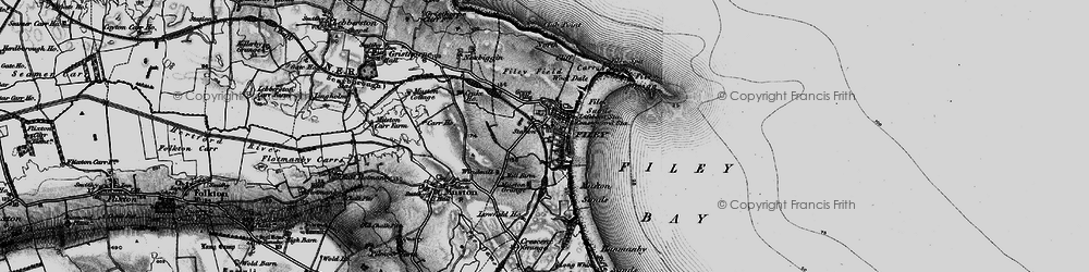 Old map of Filey in 1897