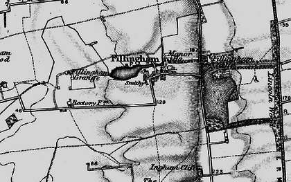 Old map of Ancholme Head in 1899